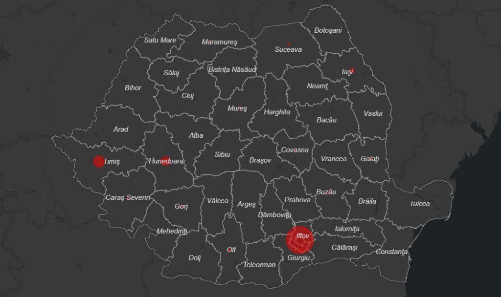 Harta Interactivă A Cazurilor De Coronavirus Din Romania Dar și