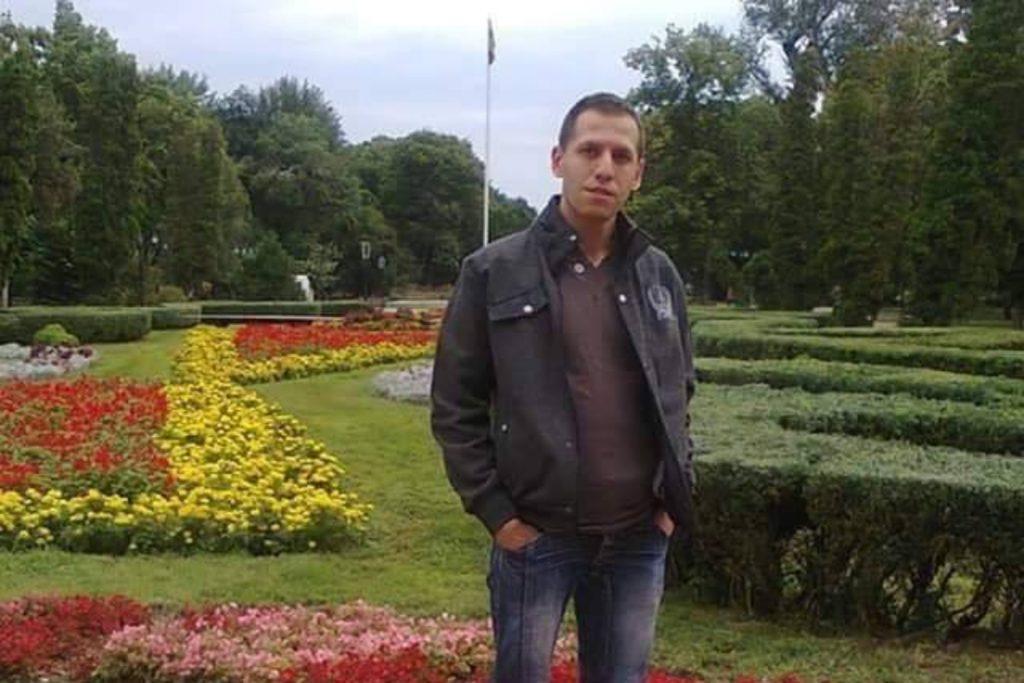 George Alin Radu, voluntar în Galați / Sursa: Facebook