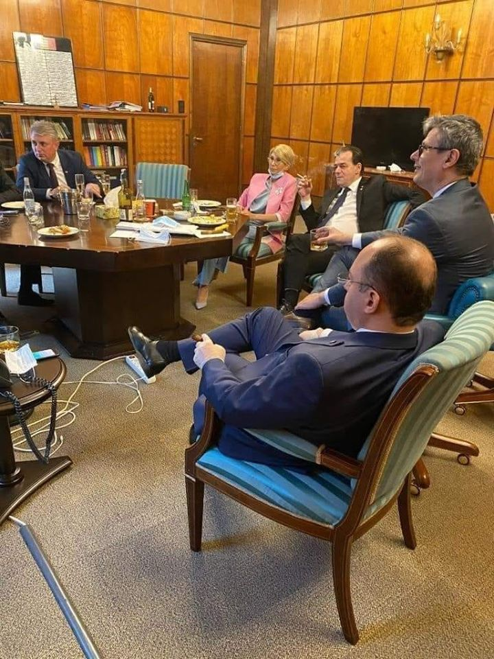 ludovic orban cabinet distantare sociala zi de nastere amenda