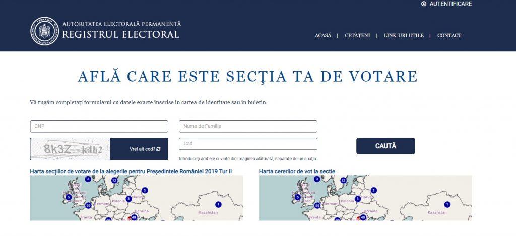 Cum afli la ce secție poți vota la alegerile locale 2020