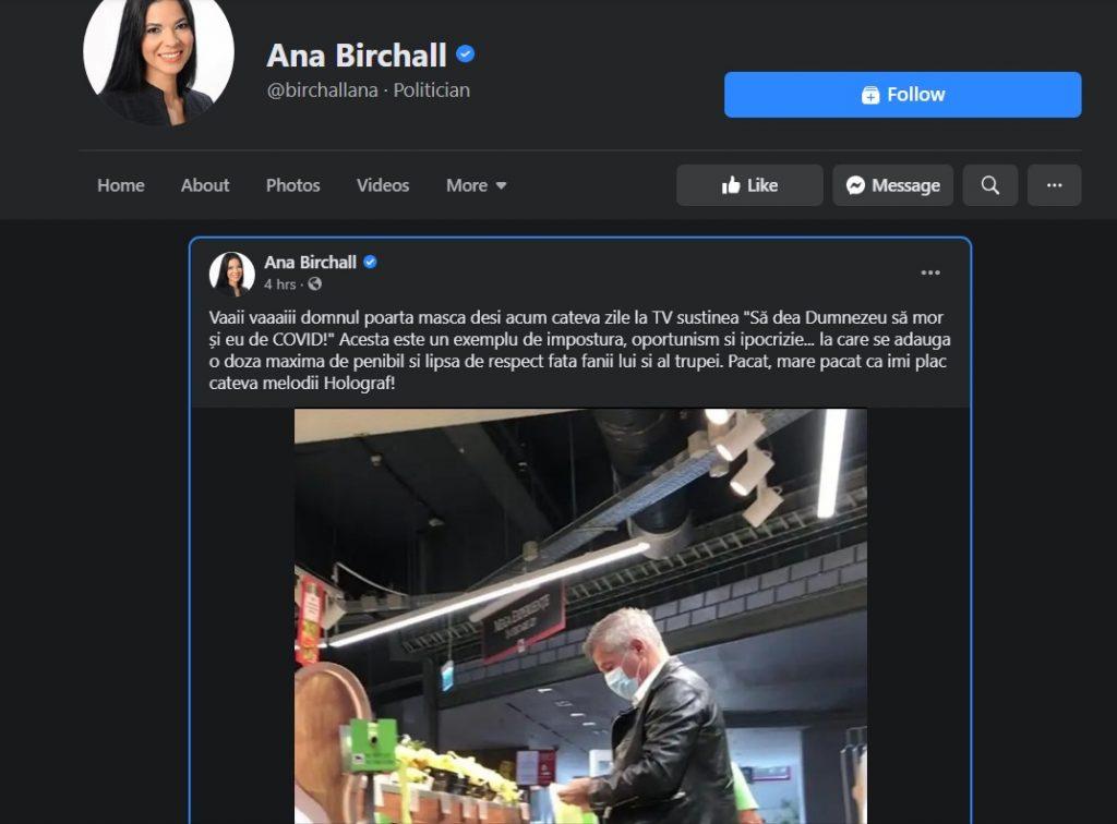 """Ana Birchall, despre Dan Bittman: """"Un exemplu de impostură, oportunism și ipocrizie"""" - FOTO"""