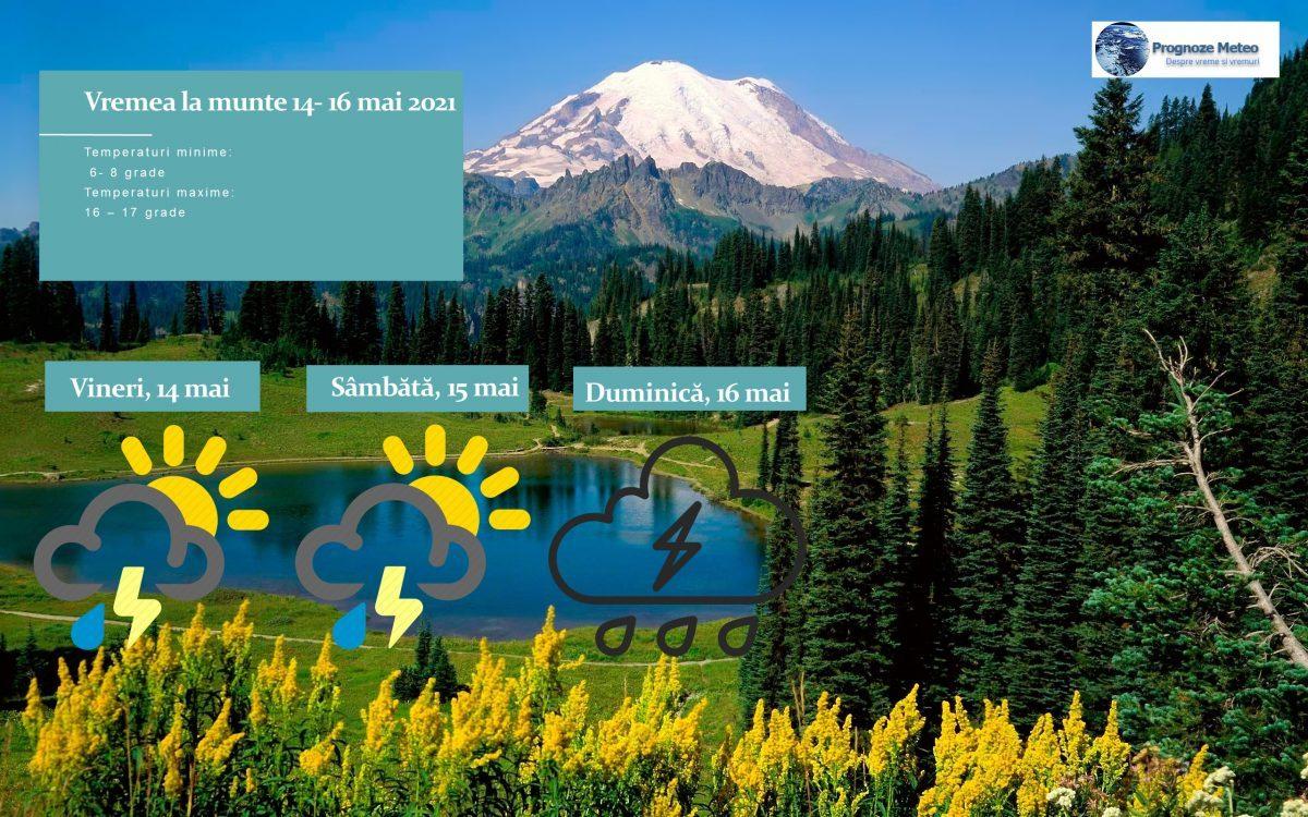 Vremea la munte în weekend-ul 14-16 mai. Sursa - Prognoze Meteo