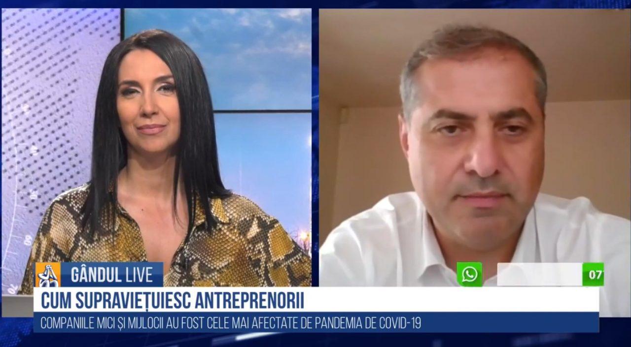GÂNDUL LIVE. Florin Jianu, președintele Consiliului Naţional al Întreprinderilor Private Mici şi Mijlocii din România (CNIPMMR): 2020 a fost un an în suspensie pentru antreprenori