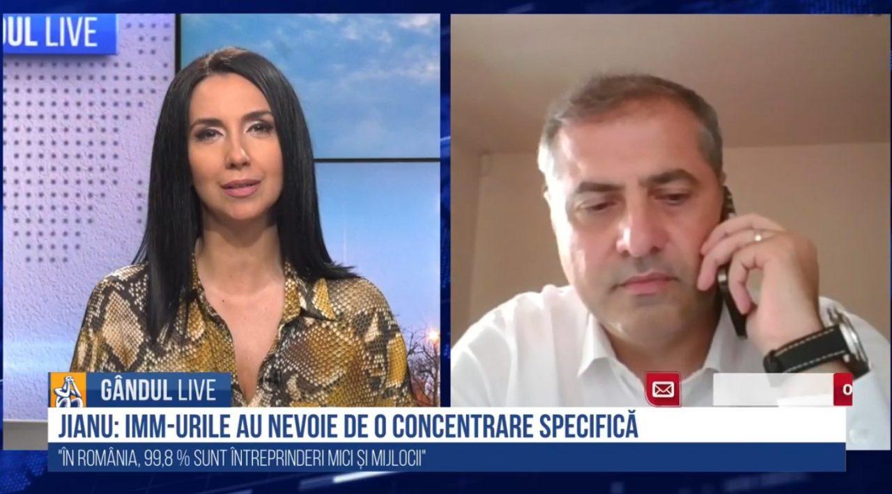 GÂNDUL LIVE. Florin Jianu, președintele CNIPMMR: Când IMM-urile au fost puse la un loc cu toate celelalte structuri economice, politicile au avut de suferit