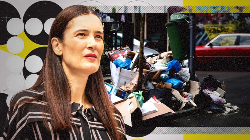 """Clotilde Armand declară că Sectorul 1 este sufocat de gunoaie din cauza societății Romprest care a sistat salubrizarea  """"Suntem într-o situație de pericol public"""""""