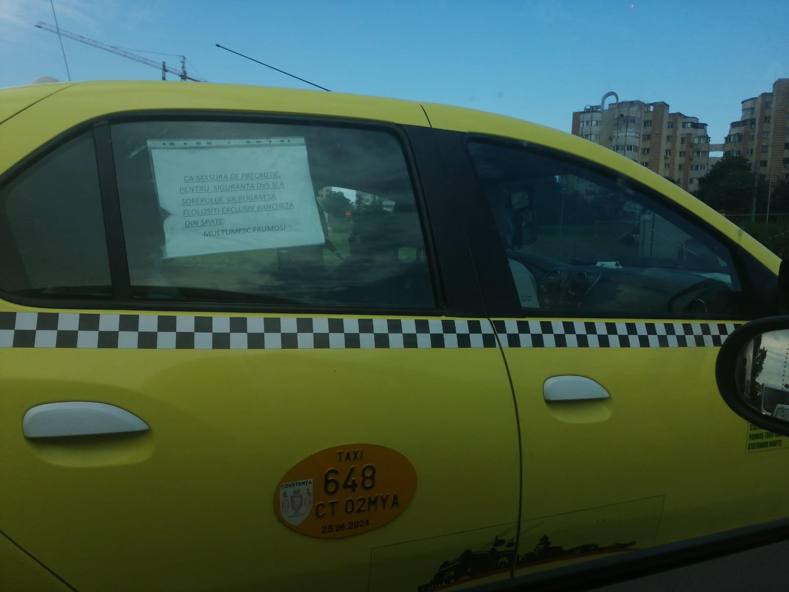 Mesajul taximetristului din Constanța